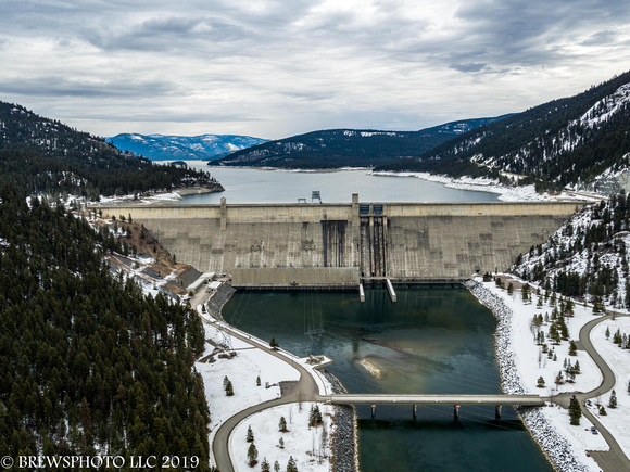 Libby Dam in winter