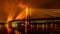 Lighting The Tilikum Crossing. Bridge of the People