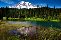Mount Rainier  Reflection Lakes