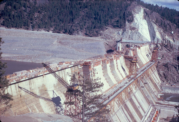 Libby Dam Construction ~`1971 or 1972