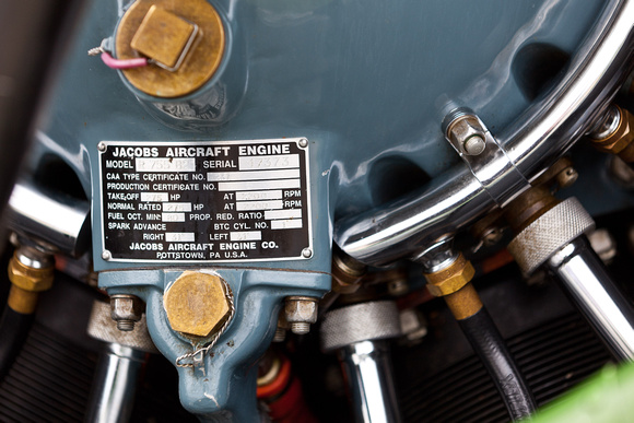 BREWSPHOTO LLC | Planes | Jacobs Engine on a Cessna 195